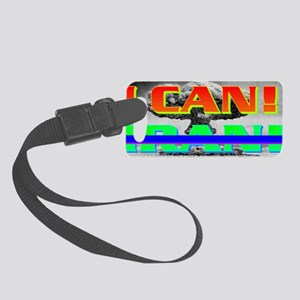 I CANxIRAN(small framed print) Small Luggage Tag
