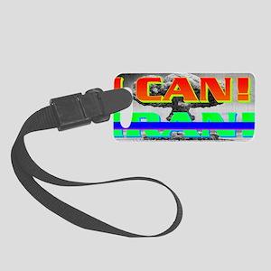 I CANxIRAN(small framed print) Small Luggage Tag