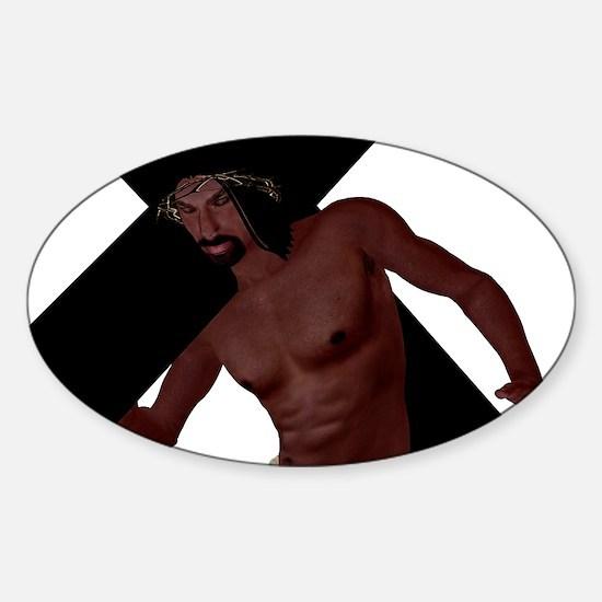 2-Jesus 7B_200 Sticker (Oval)