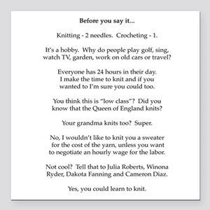 """2-Before you say it Square Car Magnet 3"""" x 3"""""""