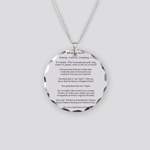 2-Before you say it Necklace Circle Charm
