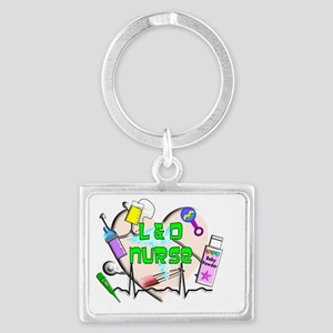 labor and delivery nurse Landscape Keychain