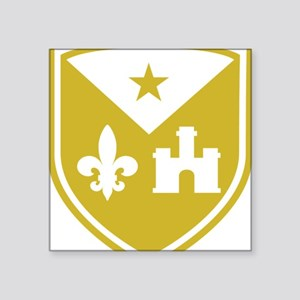 "Cadien shield logo gold-sim Square Sticker 3"" x 3"""