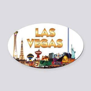 Ultimate Vegas Skyline Oval Car Magnet