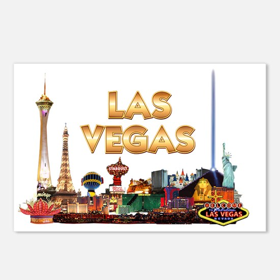 Ultimate Vegas Skyline Postcards (Package of 8)