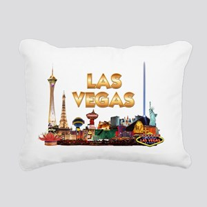 Ultimate Vegas Skyline Rectangular Canvas Pillow