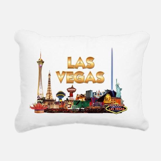 Ultimate Vegas Skyline Rectangular Canvas Pillow