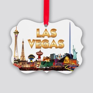 Ultimate Vegas Skyline Picture Ornament