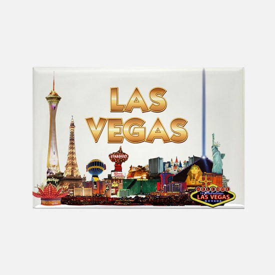 Ultimate Vegas Skyline Rectangle Magnet