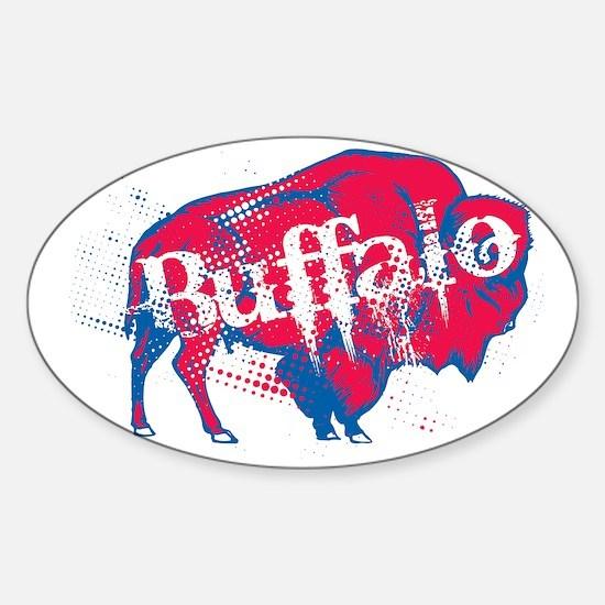 JstBuffalo_BillsBlk Sticker (Oval)