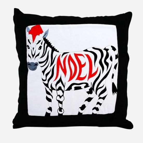 Christmas Noel Zebra Throw Pillow