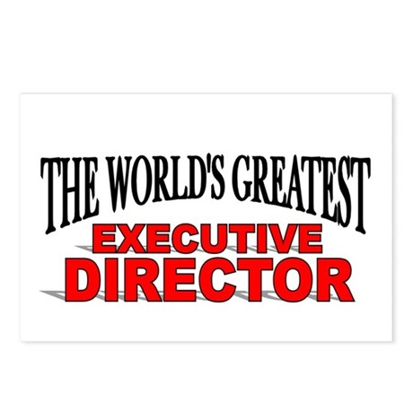 """The World's Greatest Executive Director"" Postcard"