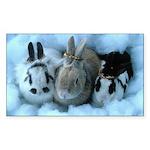 Bunny Rabbits Christmas angels bunnies Sticker
