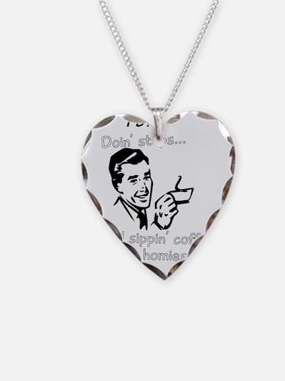 doin steps Necklace Heart Charm