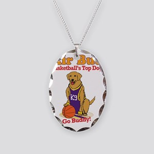 BasketballAirBud Necklace Oval Charm