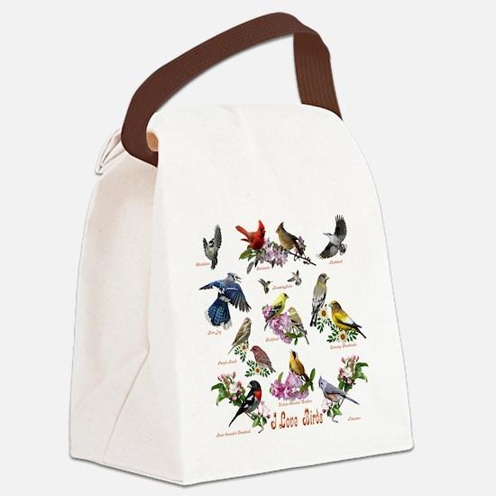 12 X T birds copy Canvas Lunch Bag