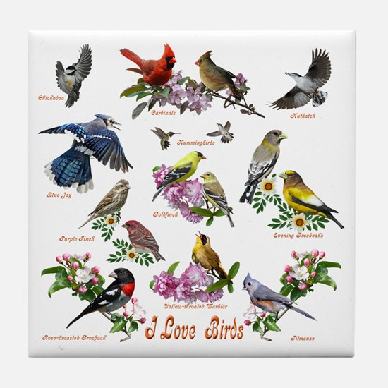 12 X T birds copy Tile Coaster