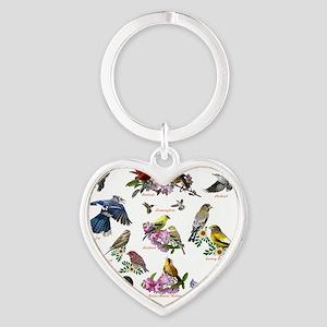 12 X T birds copy Heart Keychain