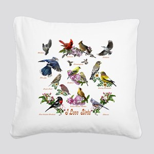 12 X T birds copy Square Canvas Pillow