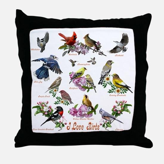 12 X T birds copy Throw Pillow