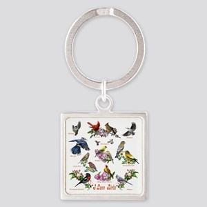 12 X T birds copy Square Keychain