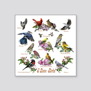"12 X T birds copy Square Sticker 3"" x 3"""