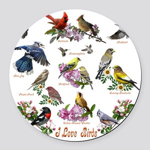 12 X T birds copy Round Car Magnet