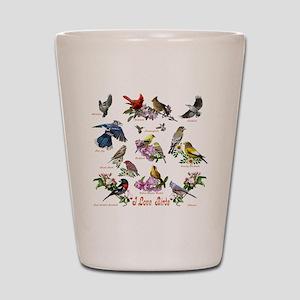 12 X T birds copy Shot Glass