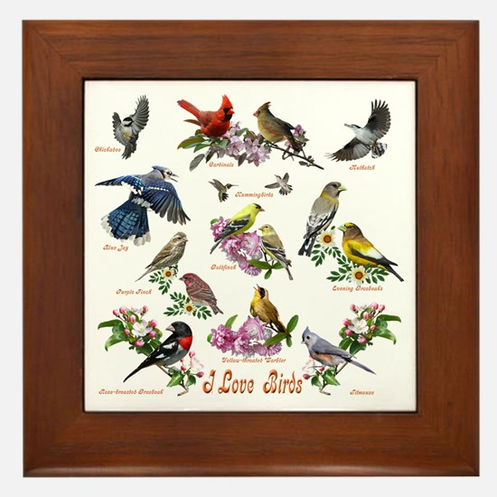 12 X T birds copy Framed Tile