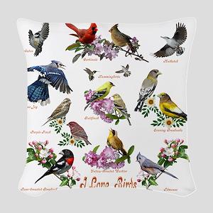 12 X T birds copy Woven Throw Pillow