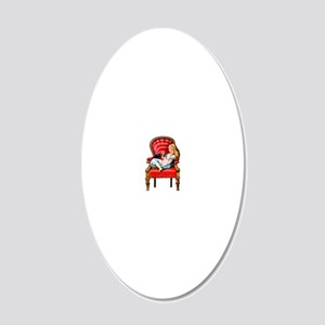 ALICE  DINAH Clear 20x12 Oval Wall Decal