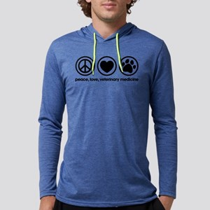 Peace Love and Veterinary Medici Mens Hooded Shirt
