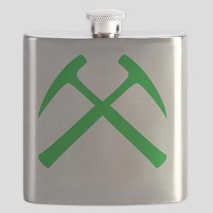 crossedHammersGreen Flask