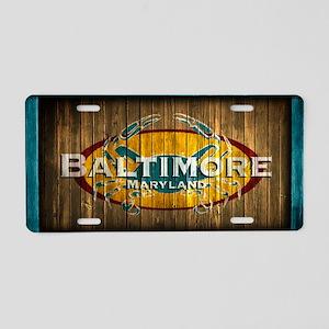 Baltimore Crab Aluminum License Plate