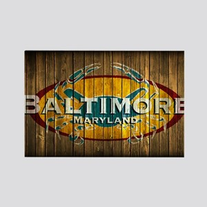 Baltimore Crab Rectangle Magnet