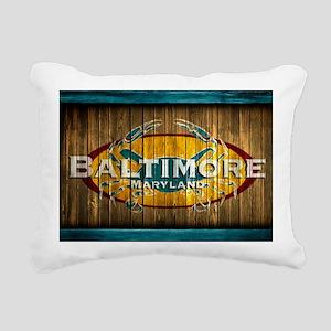 Baltimore Crab Rectangular Canvas Pillow