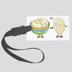 dip-loves-chip Large Luggage Tag