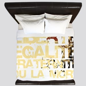 Doin it the French Way darks King Duvet