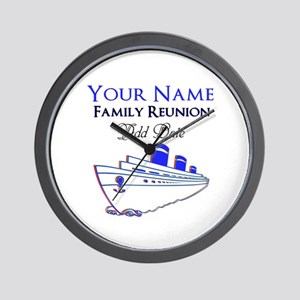 FAMILY REUNION CRUISE Wall Clock