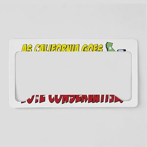 ascaligoes_conservative_t License Plate Holder