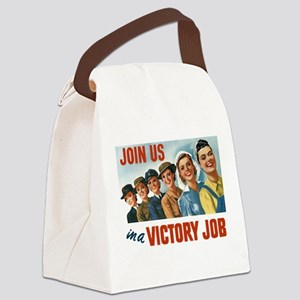 Victory Vintage Poster Canvas Lunch Bag