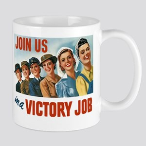 Victory Vintage Poster Mugs