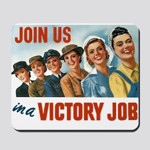 Victory Vintage Poster Mousepad