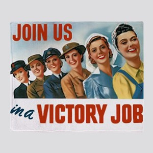 Victory Vintage Poster Throw Blanket