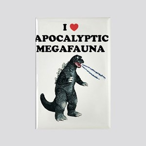 Apocalyptic Megafauna 02 Rectangle Magnet