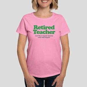 Retired Teacher Way Happier Women's Dark T-Shirt