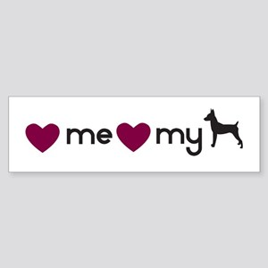 Love My Toy Fox Terrier Bumper Sticker