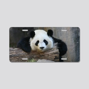 panda Aluminum License Plate