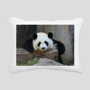 panda Rectangular Canvas Pillow