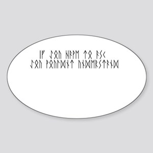 Ask Runes Oval Sticker